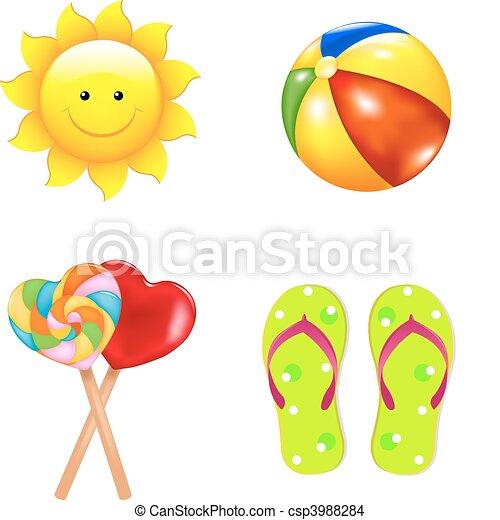 Beach Children\'s Set - csp3988284