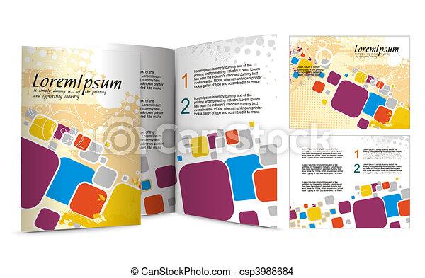 brochure design - csp3988684