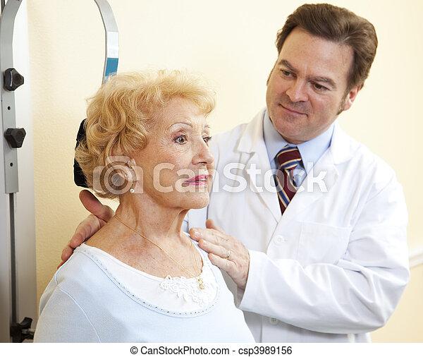 Senior Woman Neck Exercises - csp3989156