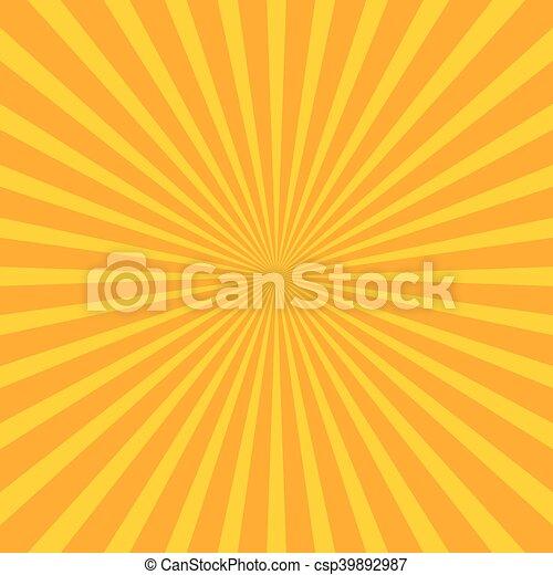 irradiar, (sunburst), starburst, rayas, líneas, brillante, regular, plano de fondo - csp39892987