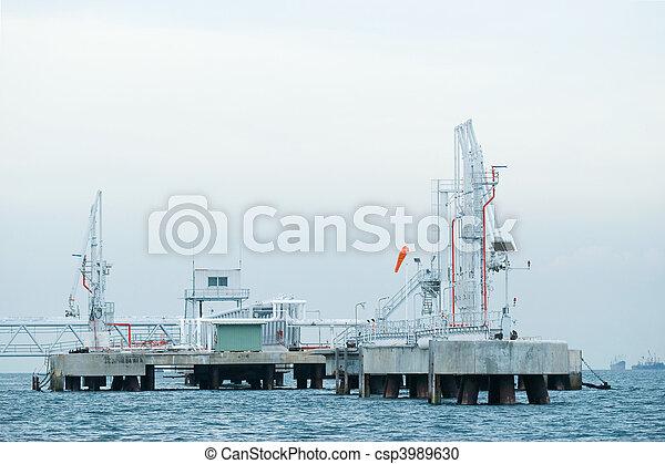 Offshore oil terminal - csp3989630