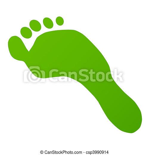 Green Footprint - csp3990914