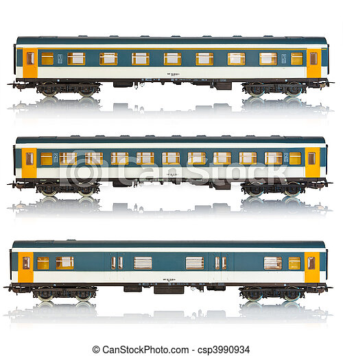 Set of passenger railroad cars - csp3990934