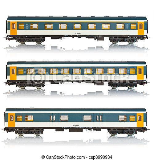 Set of passenger railroad cars - csp3990934
