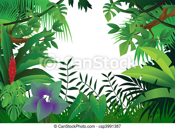 Jungle Leaves Background Clipart