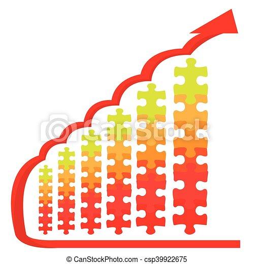 Business graph bar - csp39922675