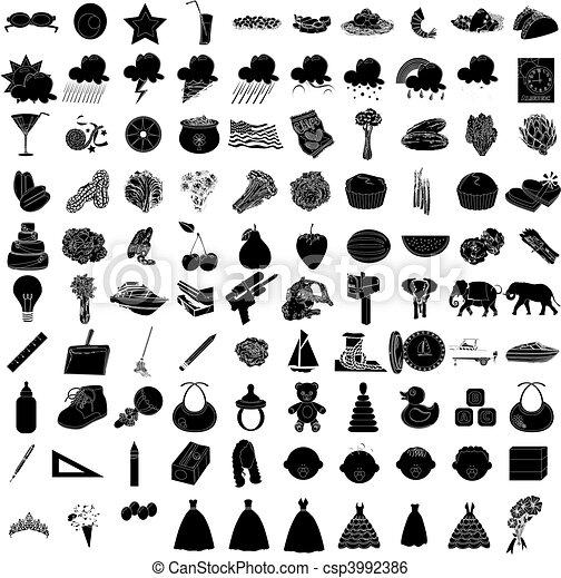 100 Icon Set 3 - csp3992386