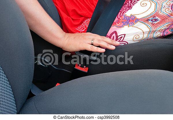 Fasten seat belt - csp3992508