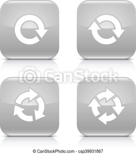 Gray arrow refresh, reload, rotation, repeat icon - csp39931867