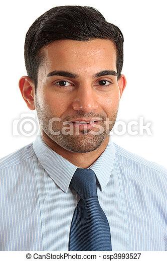 Smiling businessman professional occupation - csp3993527