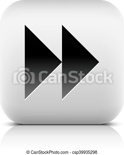 Media player icon with next forward sign. - csp39935298