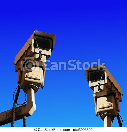 two cctv cameras - csp3993802