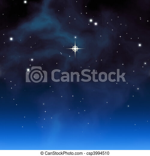 christmas star - csp3994510