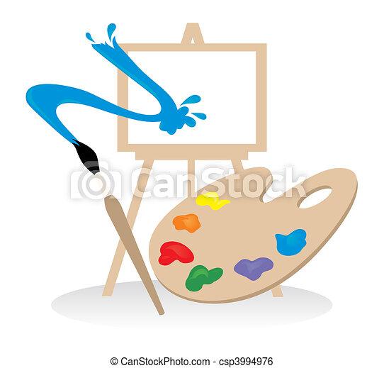 Clip art vecteur de palette dessin illustration vecteur - Palette a dessin ...