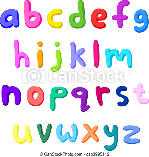 Colorful small letters - csp3995112