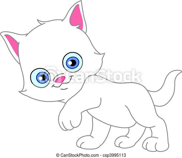 White kitten - csp3995113