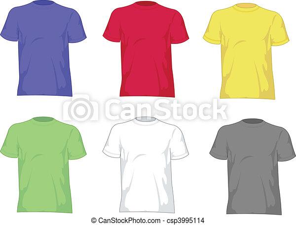 Man t shirts - csp3995114
