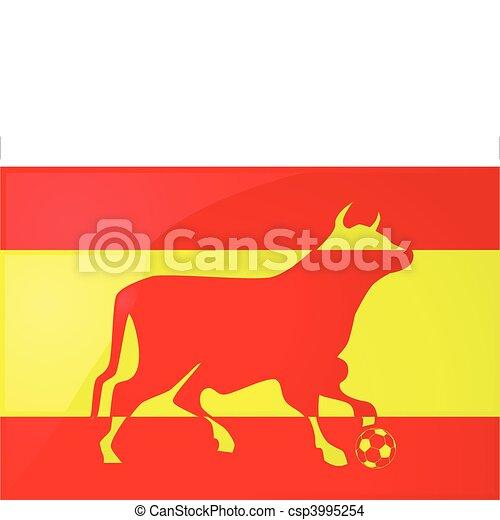 Bull Spanish soccer 2 - csp3995254