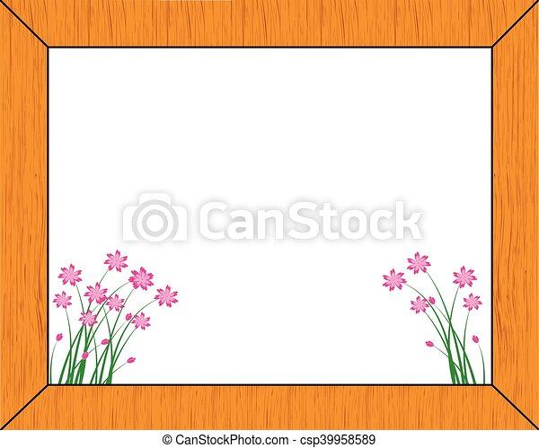 wooden frame-vector - csp39958589
