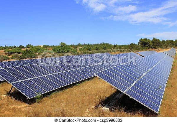 Solar electric plates green energy ecology - csp3996682