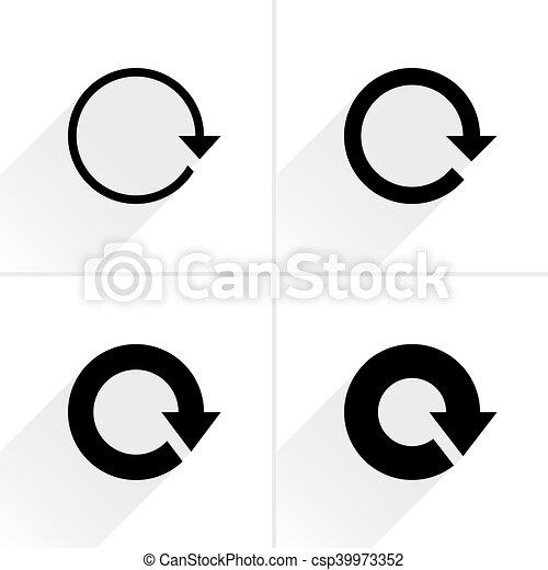 Arrow icon refresh, rotation, reset, repeat sign - csp39973352