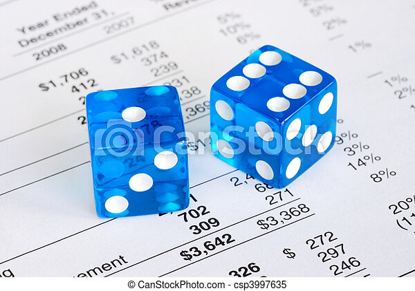 Dices concepts of risk and reward - csp3997635
