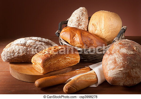 assortment of baked bread - csp3998278