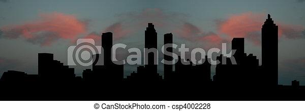 Atlanta skyline at sunset - csp4002228