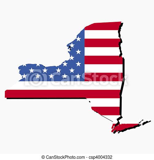 New York State American Flag