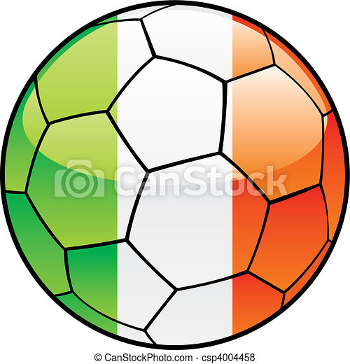 Ireland flag on soccer ball - csp4004458