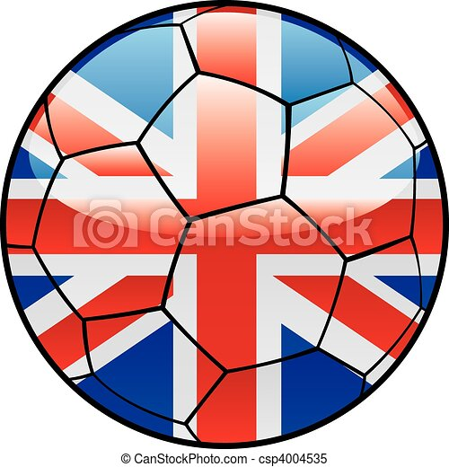 Great Britain flag on soccer ball - csp4004535