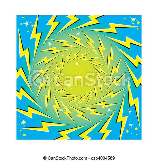 """Rotating Lightning Bolts"" - csp4004589"