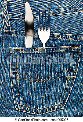 Flatware in a pocket - csp4005028