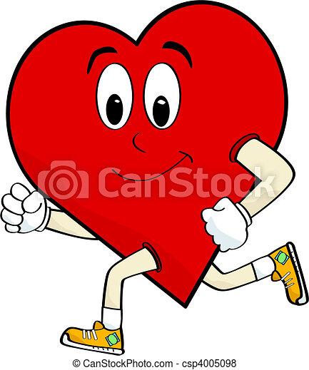 Running heart - csp4005098