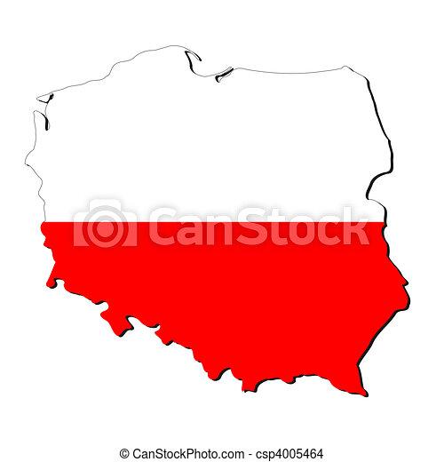 Poland map flag - csp4005464