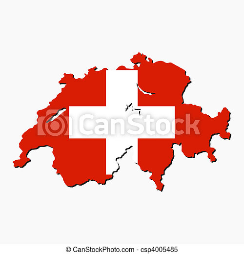 Switzerland map flag - csp4005485
