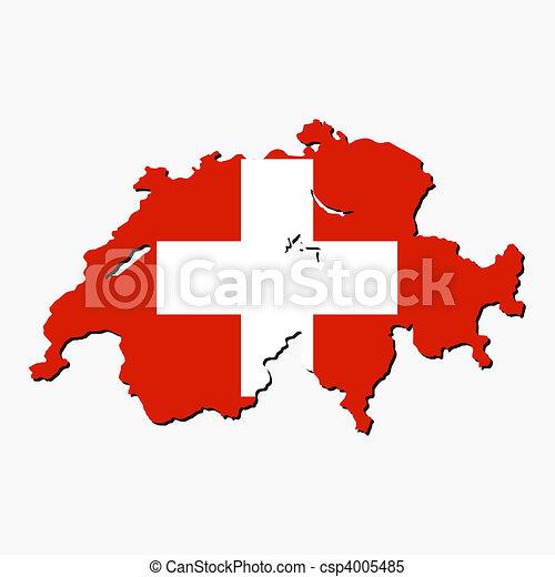 Switzerland map flag - csp4005485
