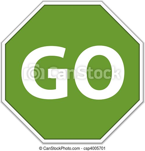 clipart stop and go signs images
