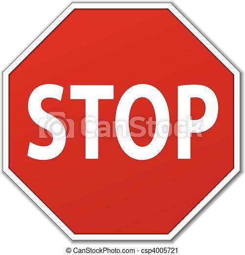 Stop Sign - csp4005721