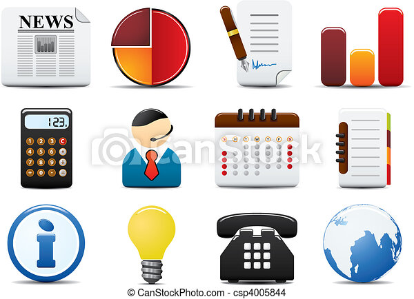 Finance Vector Icons Set Two - csp4005844