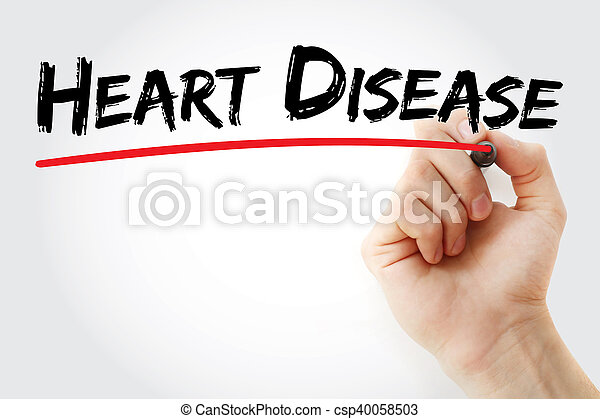 Hand writing Heart Disease with marker, health concept