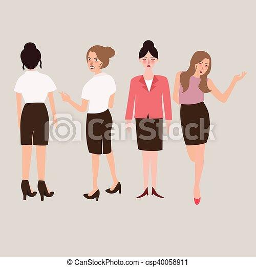 Clipart vettoriali di standing corpo donna affari for Piani di garage free standing
