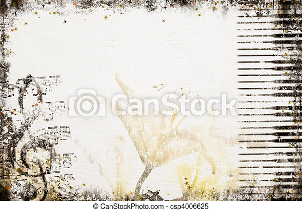 Old Style Music Background - csp4006625