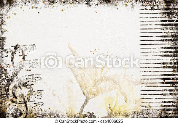 gammal, stil, musik, bakgrund - csp4006625