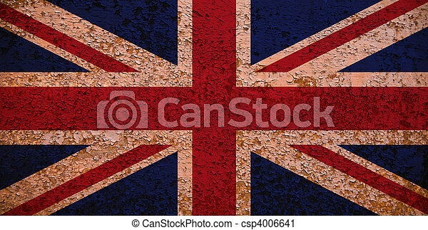 Rusty Flag Of Great Britain - csp4006641