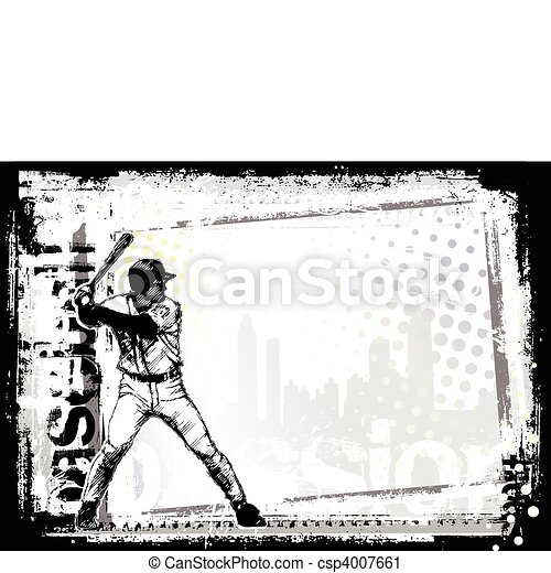 baseball horizontal - csp4007661
