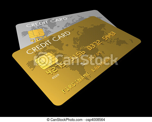Gold and silver credit card - csp4008564