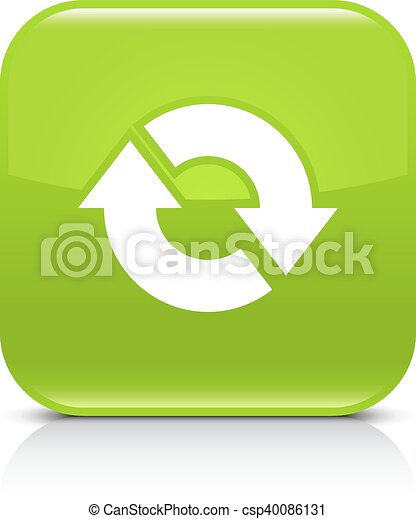 Green arrow repeat, reload, refresh, rotation sign - csp40086131