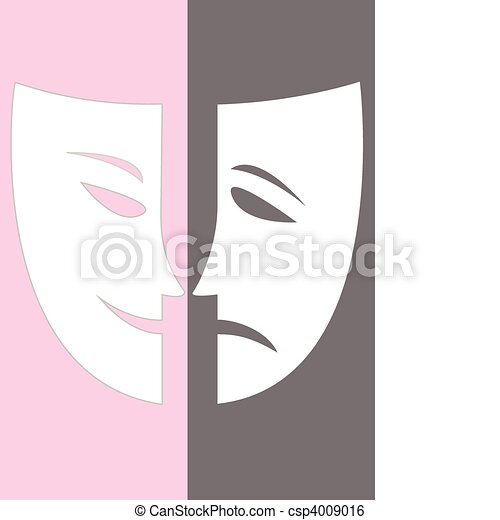 Vector joy and sadness stock illustration royalty free