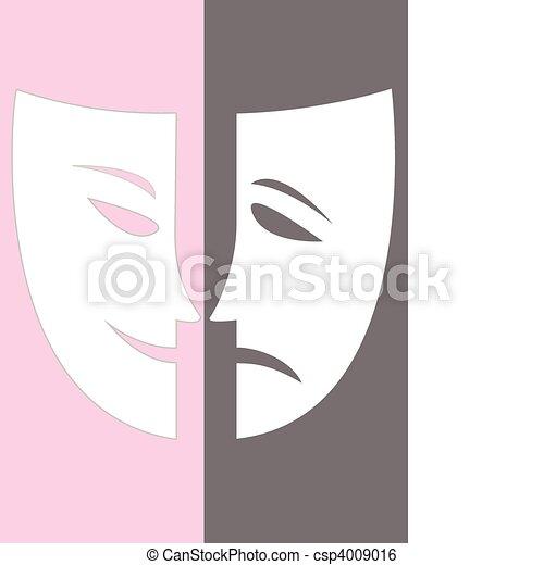 Vector joy and sadness stock illustration royalty free